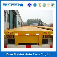 Low Price 40t Flatbed Container Truck Trailer