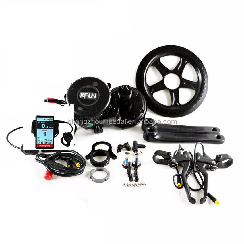 new model bafang 8fun crank mid motor kits 36V 350W with LCD display