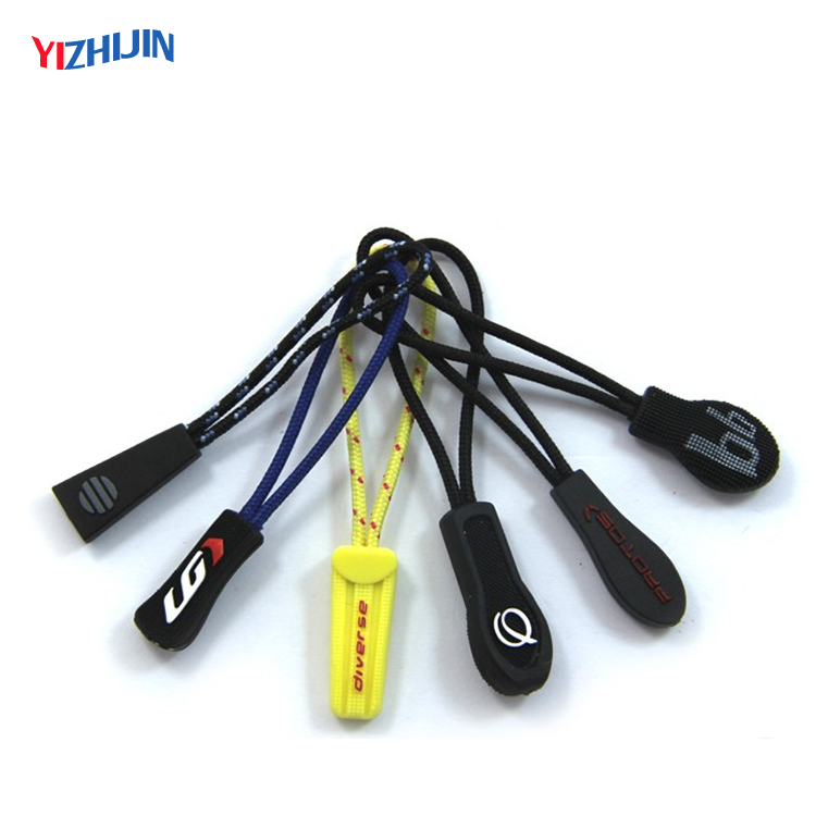 Custom Brand Logo Different Shape Soft PVC Zipper Pull For China Supplier, Pantone color