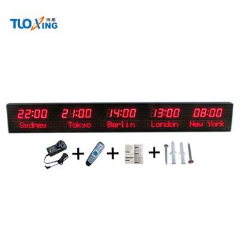 7e6c41f90cc Levou Visor Do Relógio De Fuso Horário Led Digital Relógio Mundial ...