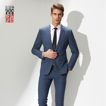 Italian Latest Design Wool Silk Plaid Suits Slim Fit Men - Buy ...