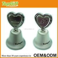 Budapest table dinner bell in custom design with heart shape on top