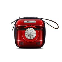 Винтажный портативный чехол для камеры Радио ТВ, чехол для наушников, мини сумка для хранения на молнии, жесткая коробка, держатель, usb-кабел...(Китай)