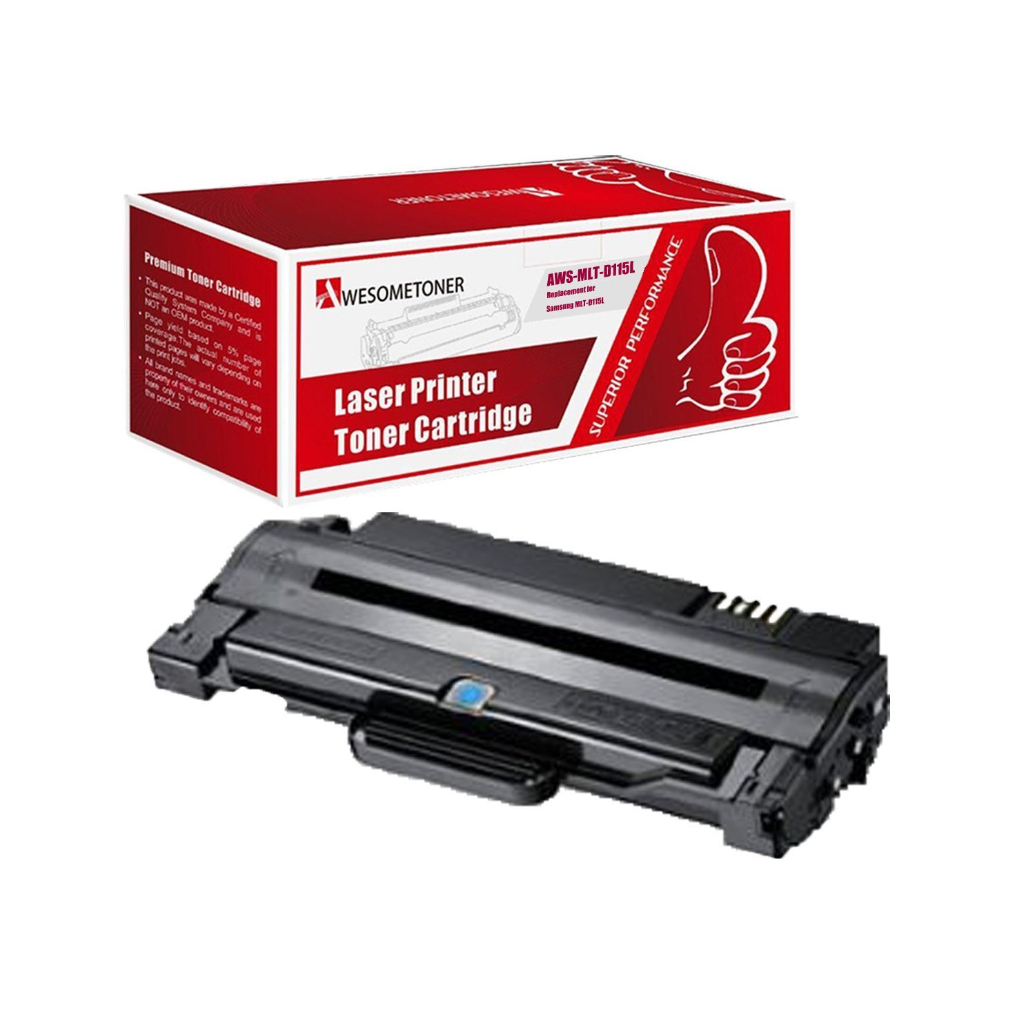 Xpress M2820 SL-M2830DW Replacement Use for SL-M2880FW InkClub 2PK Compatible MLT-D115L Black High Yield Laser Toner Cartridge Xpress M2670 Xpress M2870 Printers Xpress M2620