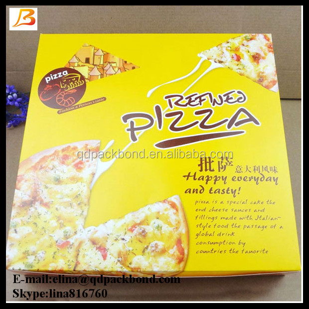 Top quality personalized food grade 9 inch cheap pizza box in turkey