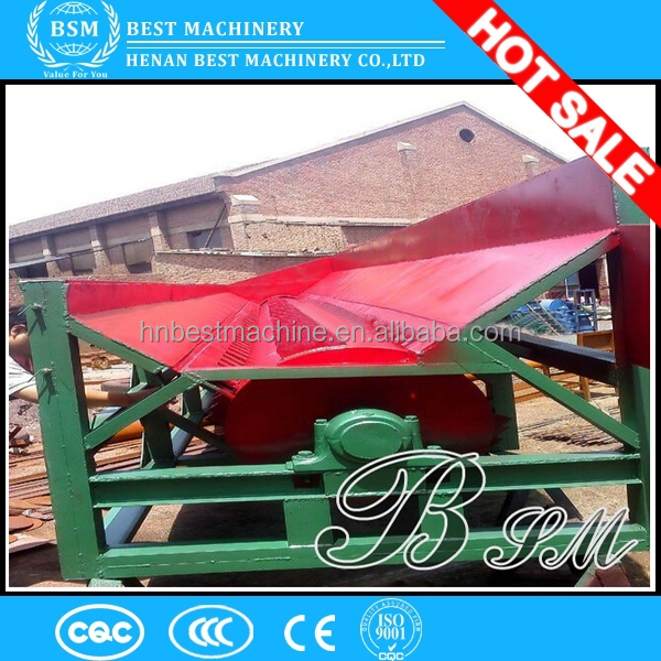 Long feeding belt wood debarker mill/tree skin peeling machine