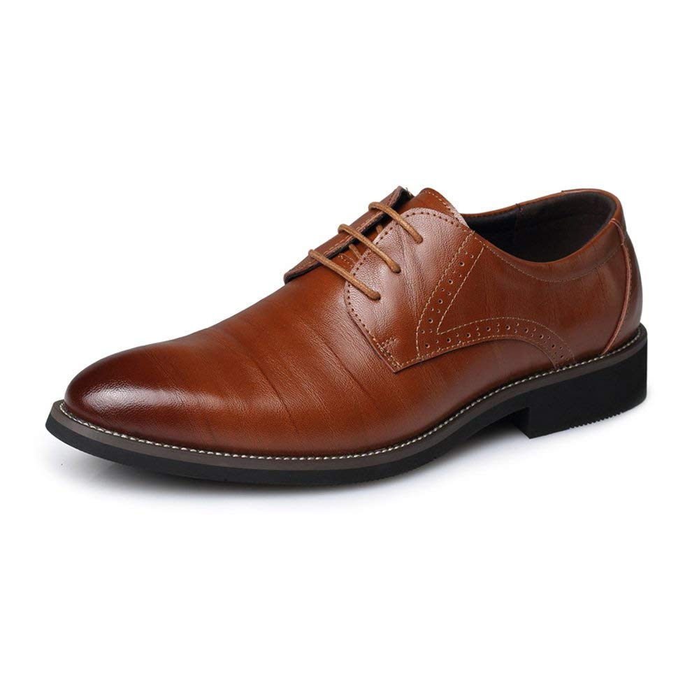 2018 Oxfords Shoes, Men's PU Leather Shoes Classic Lace up Loafers Low Top Lined Formal Business Oxfords