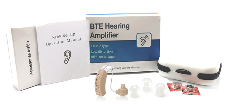 China price audio input FDA proved BTE sound amplifier hearing aid