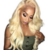 Overnight Delivery Free Shipping Top Quality 100% Remy Virgin Hair Blonde Lace Front Wig Human Hair Lace Front Wigs