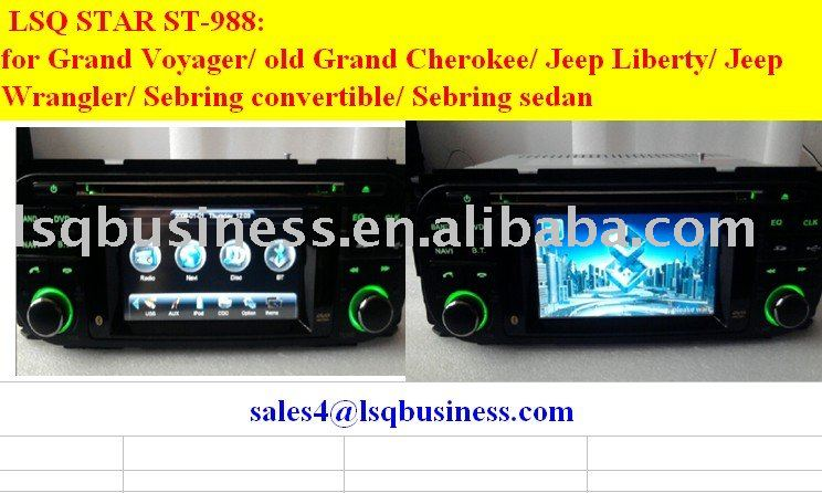 3.5inch car dvd player for Jeep grand cherokee/ Voyager/ Liberty/ Wrangler/ Chrysler sebring