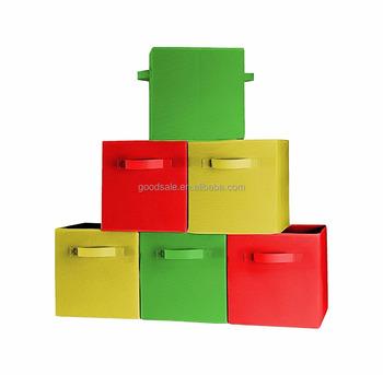 Better Quality Foldable Cloth Storage Bins For ShelvesBasketsCubes Custom Decorative Plastic Storage Boxes