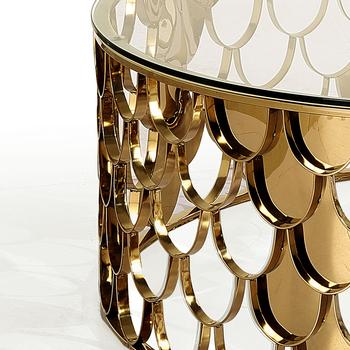 Fischschuppen Metall Gold Basis Couchtisch Buy Metall Couchtisch