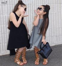 Nununu KIKIKIDS crianças vestidos para as meninas do bebê roupas de menina Vestido de Verão Sem Mangas Roupas meninas roupas Meninas vestido de verão Da Marca