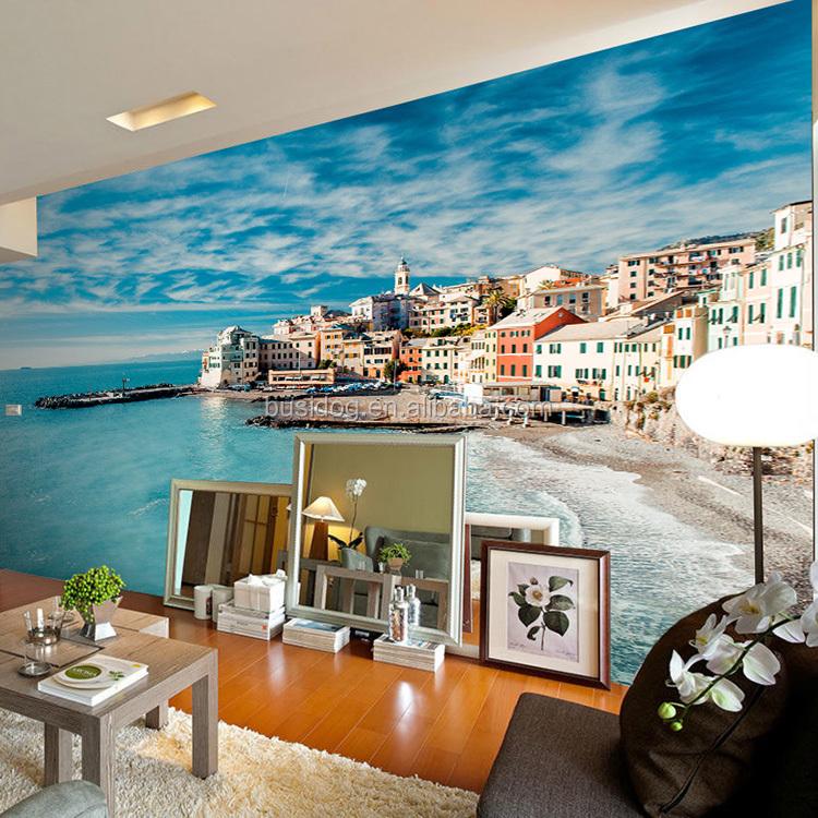 Moda bule cielo e mare murales carta da parati per la for Carta da parati 3d mare