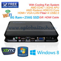 Portable PC Embedded Computer AMD E240 Radeon HD6310 Core Hd Graphics HOMI 1080P As Mini Cloud Terminal Server