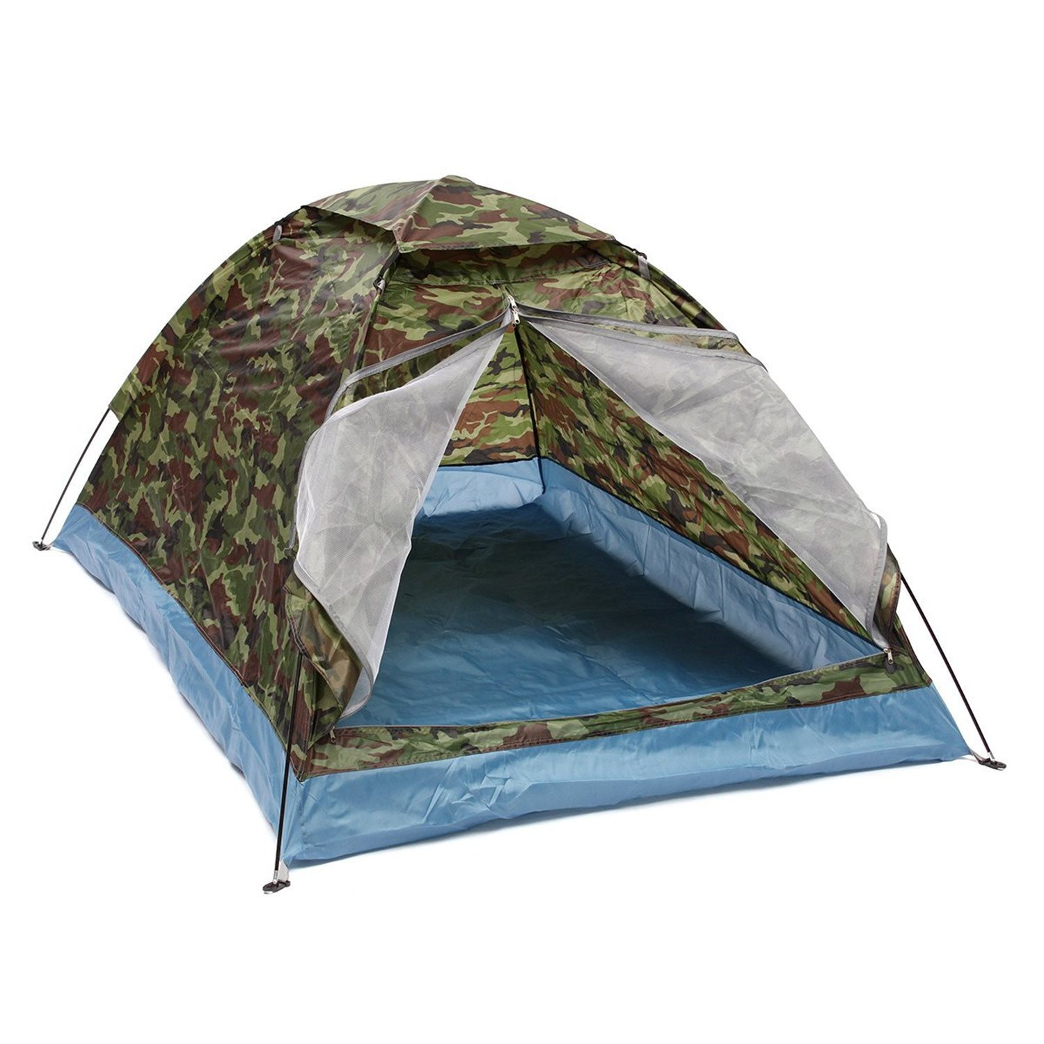 Nutsima Outdoor 200140110cm Oxford cloth PU waterproof coating 4 seasons 2 people single layer Camouflage camping hiking tent