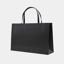 Garment Package Black card paper bag with strong eyelet handle