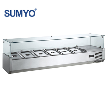 Stainless Steel 1.8m L Refrigerated Table Top Salad Bar ...