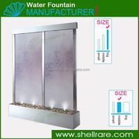Stainless Steel with clear galss for wedding decoration wall fountain for sale