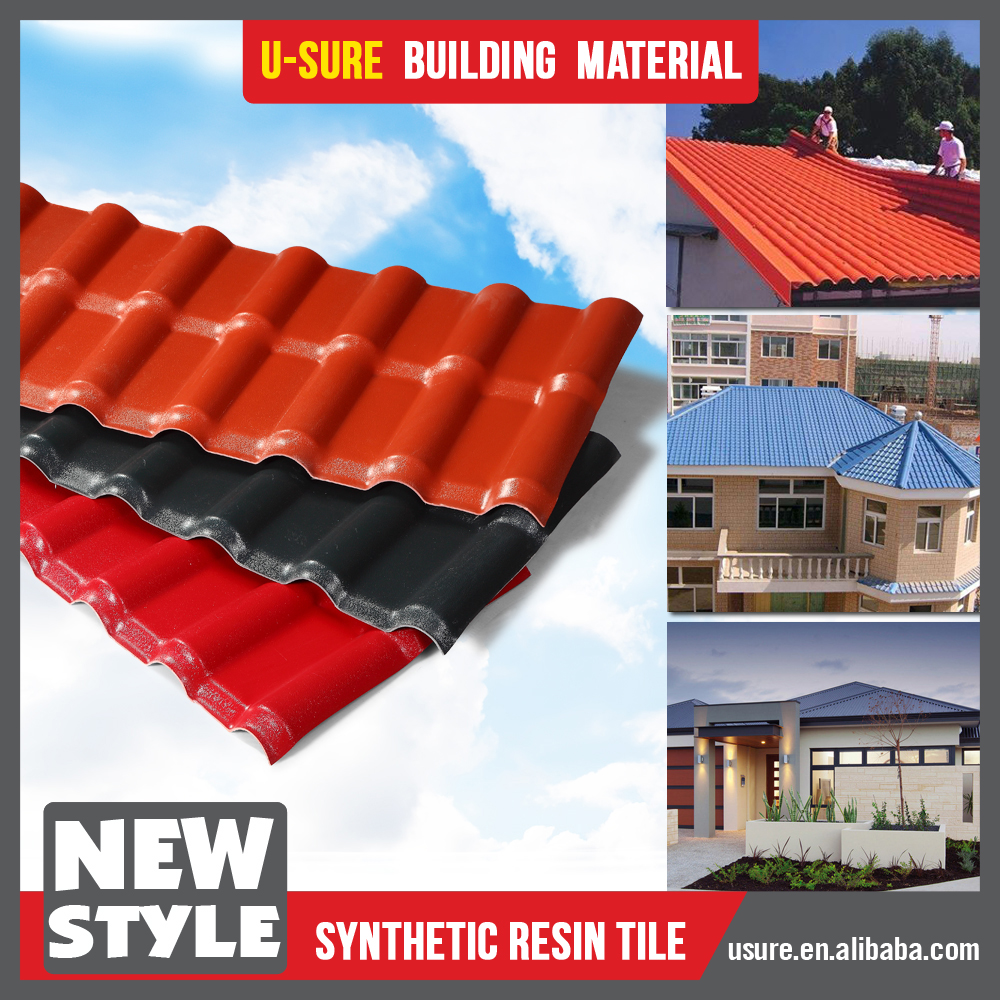 Roof Panels / Professional Manufactory Colored Plastic Roof Sheet / Bali  Garden House Heated Roof Drains