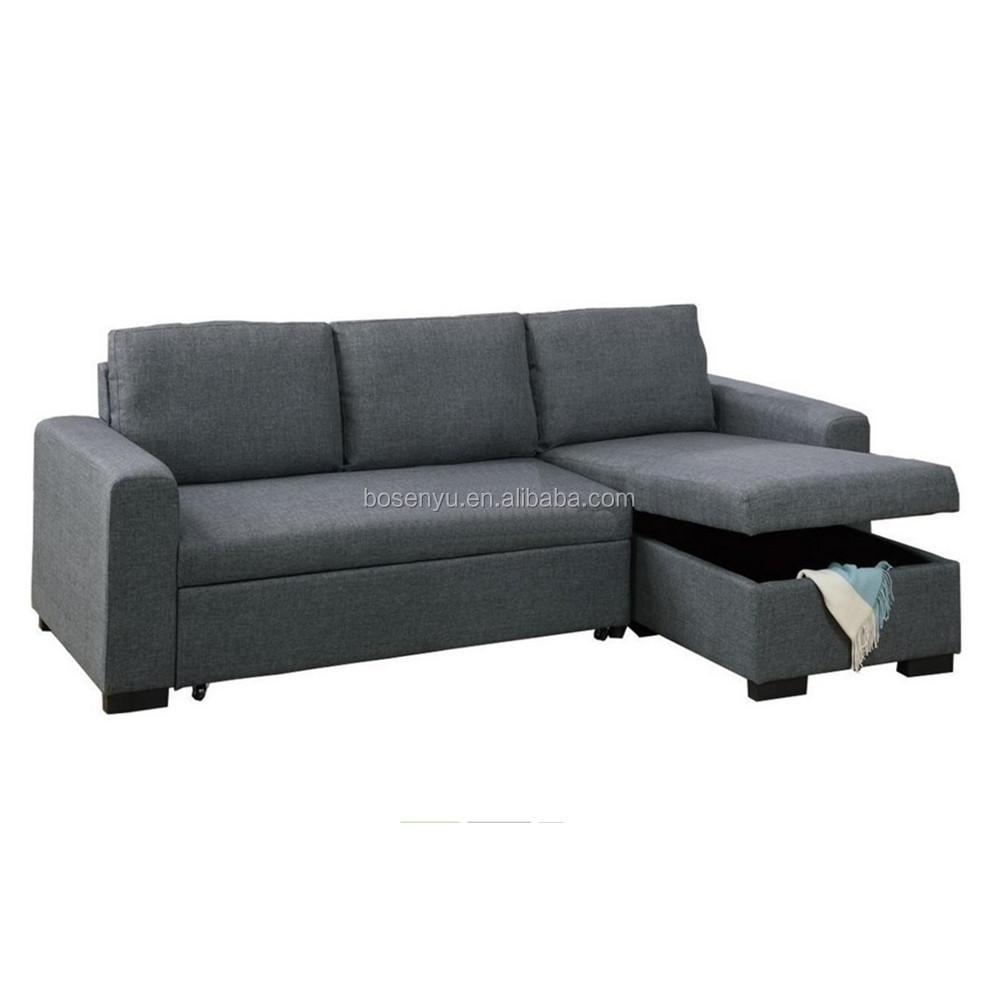 L Shape Sofa Bed With Storage Box