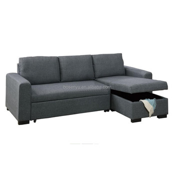 L Shape Sofa Bed With Storage Box View