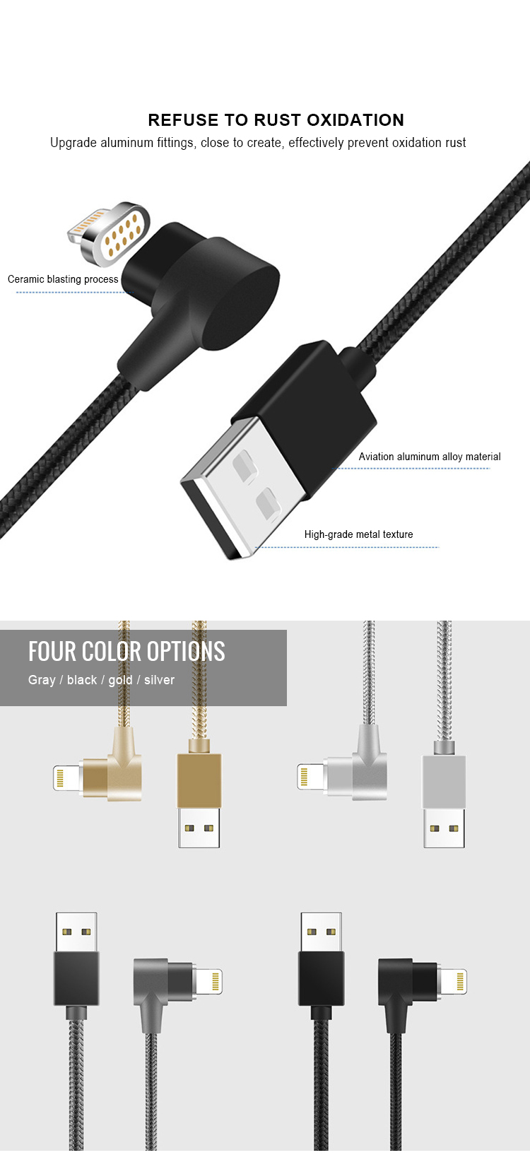 Amazon Type-C Kabel L-Vorm 90 Graden Micro Data 3in1 Magnetische Usb-kabel Voor Telefoon