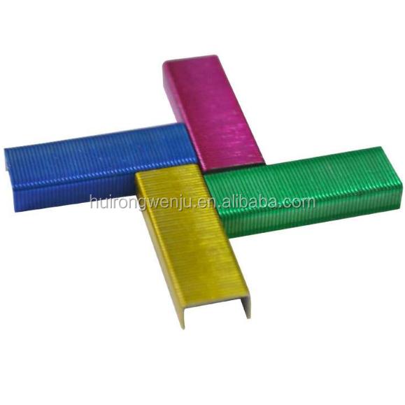 26/6 สีสัน staple pin คุณภาพสูง staples 1000 staples แขวน