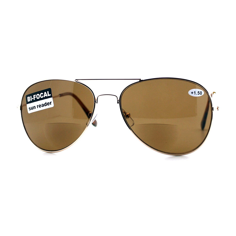 9ae6e152cdd Bifocal Magnification Lens Sunglasses Unisex Classic Aviator Sun Reader