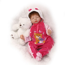 About 55CM Popular NPK Dolls Silicone Reborn Baby Dolls With Baby Clothes Boneca Lifelike Adorable Newborn