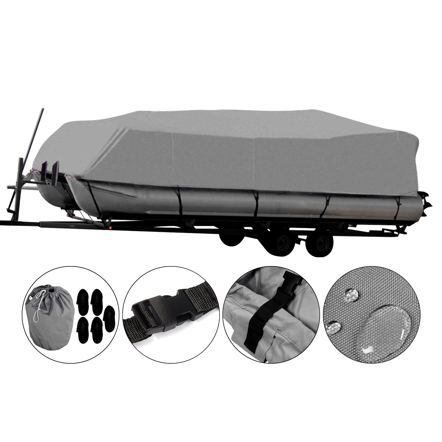 Buy OOFIT Trailerable Pontoon Boat Cover in Heavy Duty 600D