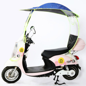 Wholesale Windproof Sunshade motorcycle Bicycle  scooter bike Umbrella