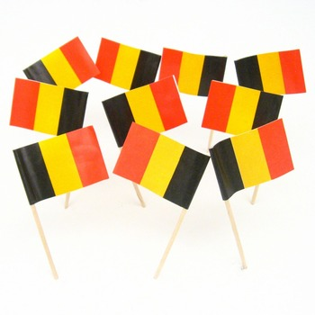 Disposable Wooden Flag Sticks Custom Flag Printing