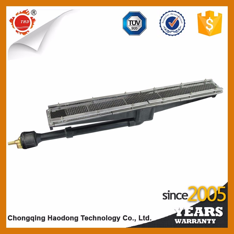 High intensity far radiant infrared gas burners for infrared glue curing