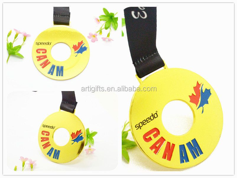 Promotion cheap medal metal canadan mapel leaf