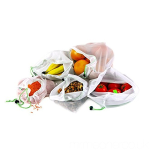 Wholesale Recycle RPET Reusable Drawstring Vegetable Fruit Mesh Bag
