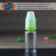 New style 10 ml vials childproof long thin tip eliquid e juice pet plastic soft empty bottle
