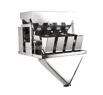 Automatic CE approval high accuracy stable performance 4 head Linear Weigher for Rice
