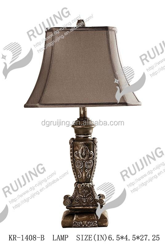 Ruijing Black Table Lamp with Carved Design