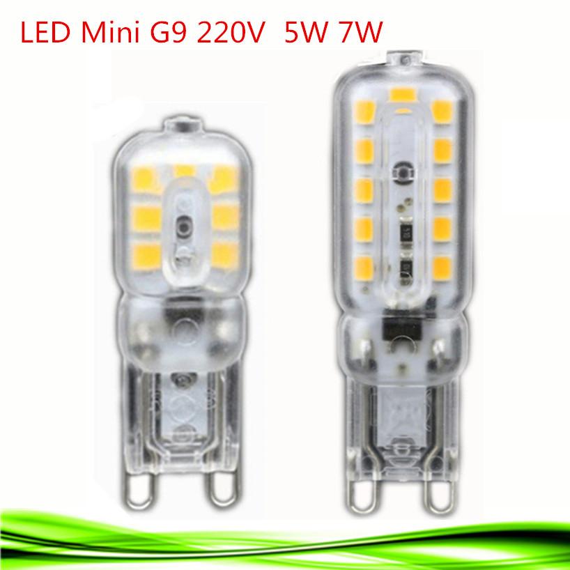 dhl 100x g9 led lamp 220v 5w 7w mini led g9 bulb corn light ceramic high power crystal. Black Bedroom Furniture Sets. Home Design Ideas