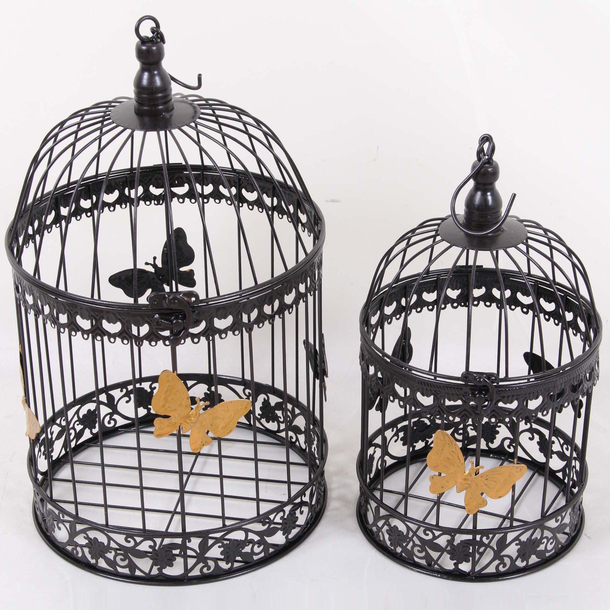Couleur Noire Cage à Oiseaux En Métal Grande Cage ...
