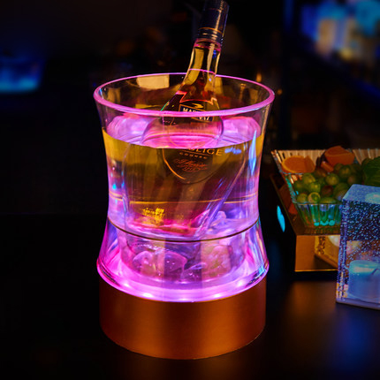 Creative bar KTV waist shaped LED luminous Acrylic Ice Bucket