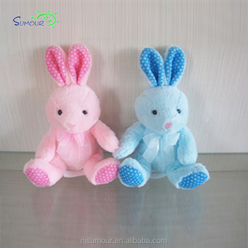 Qualities Product 20cm Plush Pink Blue Bunny Stuffed Soft Toy Rabbit