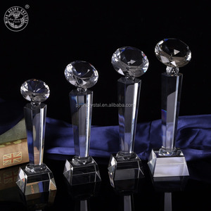 MH-JB146 Transparent top diamond Crystal Trophy And Awards
