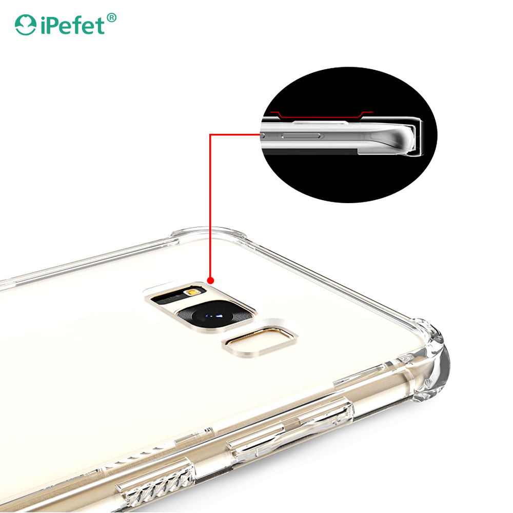 For Samsung Galaxy S8+ Shockproof Transparent Case Cover Mobile Phone Hybrid TPU+PC Phone Case