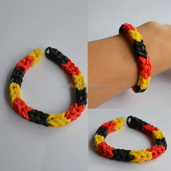 band peachy bracelet make rubber braided braceletmade main easy rubberband
