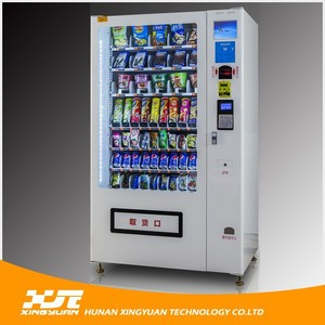 Combo Snack and Drink Vending Machine with 60 Selections