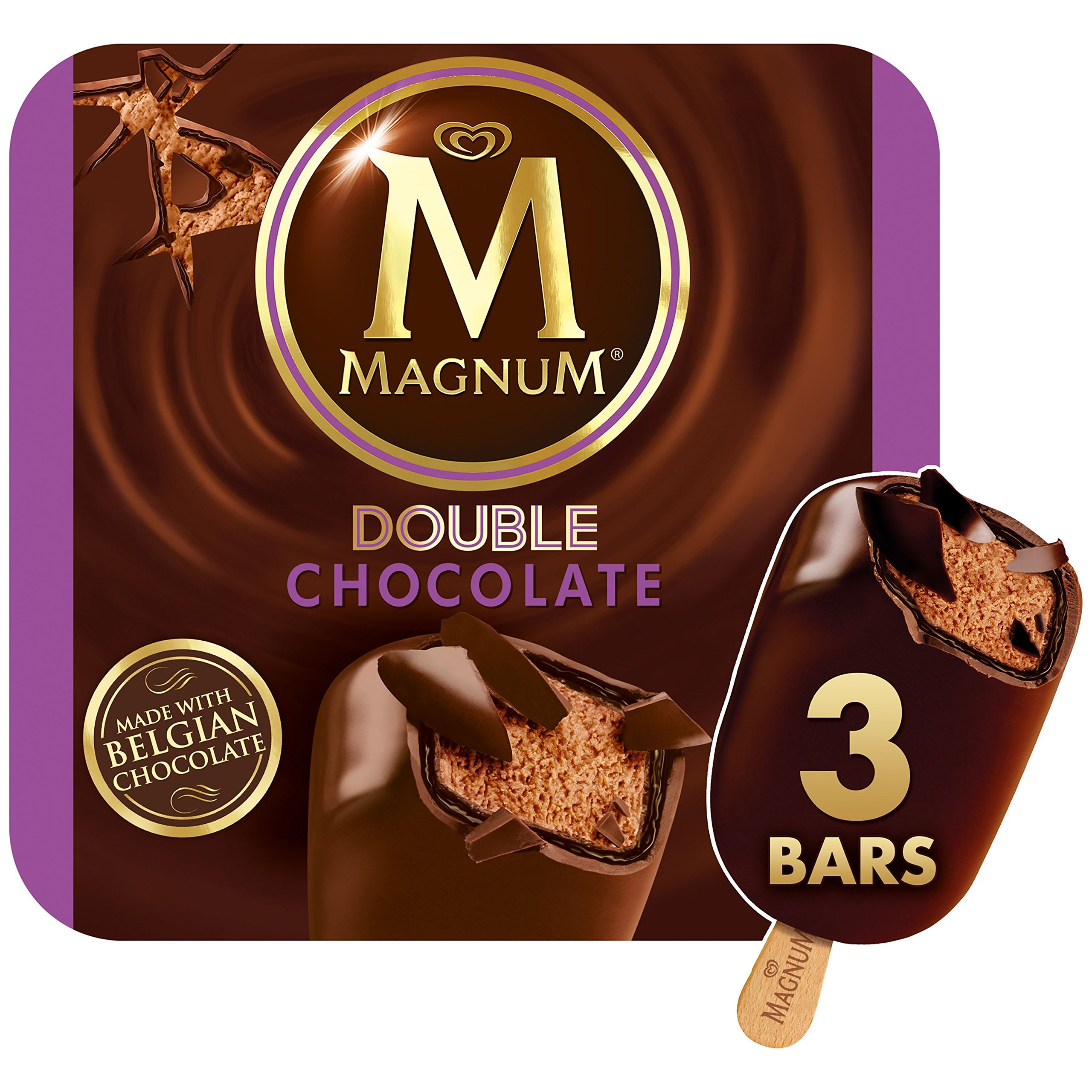 Magnum Ice Cream Bars, Double Chocolate, 3 ct