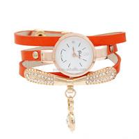 2017 New ladies watches Fashion Women diamond bracelet watches Wrap Around Quartz Wrist Watch