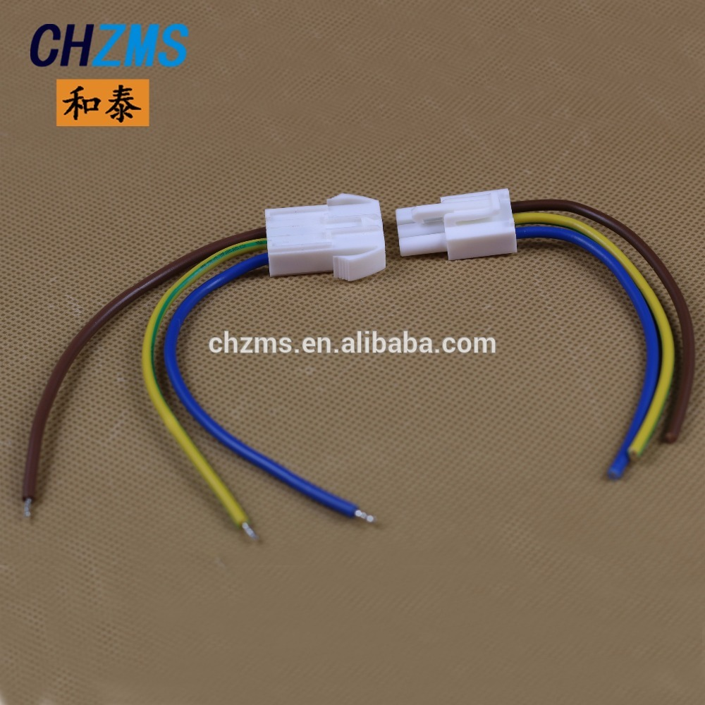 3 Pin wiring harness with connector china lemo 3 pin wire connector, china lemo 3 pin wire connector